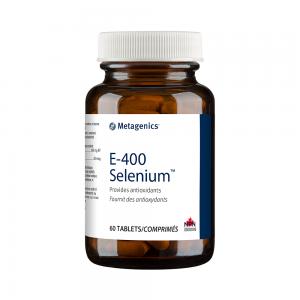 Metagenics E-400 Selenium 60 Tablets Canada