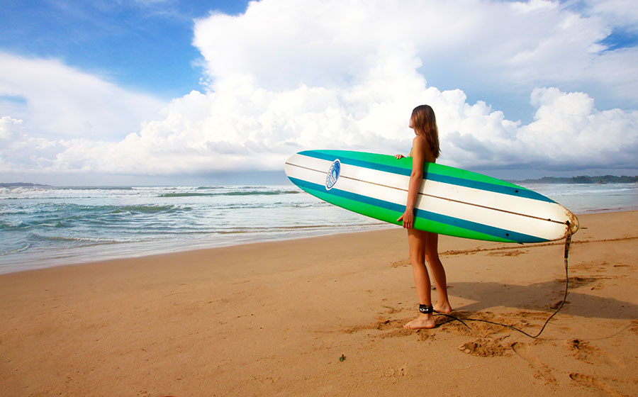 surfing with a stoma - start slow after surgery using a 10ft board