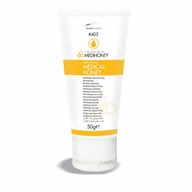 MEDIHONEY WOUND CARE - Derma Sciences 405 - Medihoney Antibacterial Medical Honey 50g tube Canada