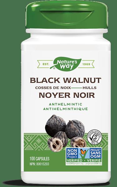Nature's Way 10403 Black Walnut Hulls 100 Capsules Canada