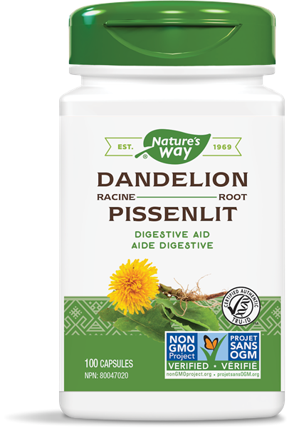 Nature's Way 10414 Dandelion Root 100 Capsules Canada