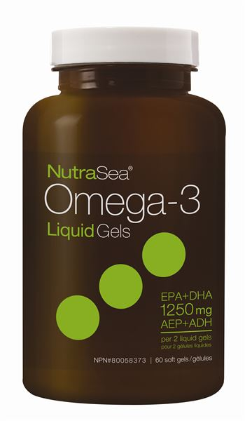 NutraSea® Omega-3 Liquid Gels, Fresh Mint   60 Softgels