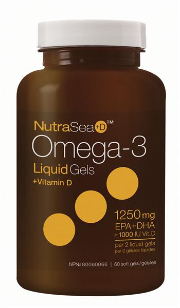 NutraSea+D™ Omega-3 Liquid Gels, Fresh Mint | 60 Softgels