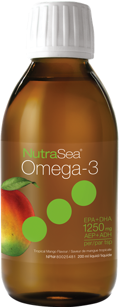 NutraSea® Omega-3, Mango | 200 ml Liquid