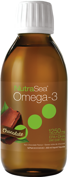 NutraSea® Omega-3, Chocolate | 200 ml Liquid