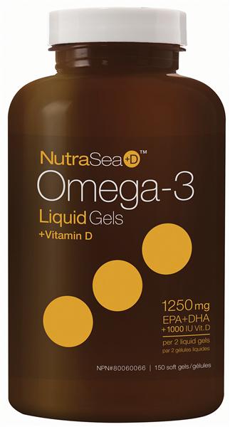 NutraSea+D™ Omega-3 Liquid Gels, Fresh Mint | 150 Softgels