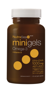 NutraSea+D™ Omega-3 Mini Gels, Fresh Mint   120 Softgels