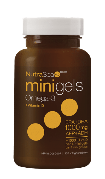 NutraSea+D™ Omega-3 Mini Gels, Fresh Mint | 120 Softgels