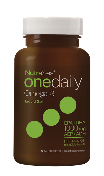 NutraSea® Omega-3 One Daily Liquid Gels, Fresh Mint | 30 Softgels