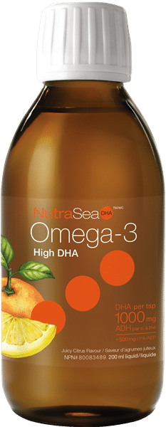 NutraSea® Omega-3 DHA, Juicy Citrus | 200 ml liquid