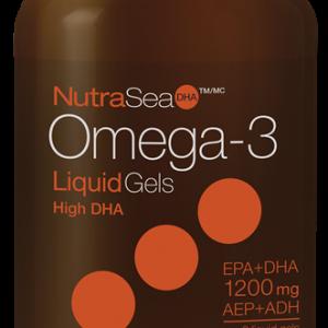 NutraSea® Omega-3 DHA Liquid Gels, Fresh Mint | 60 Softgels