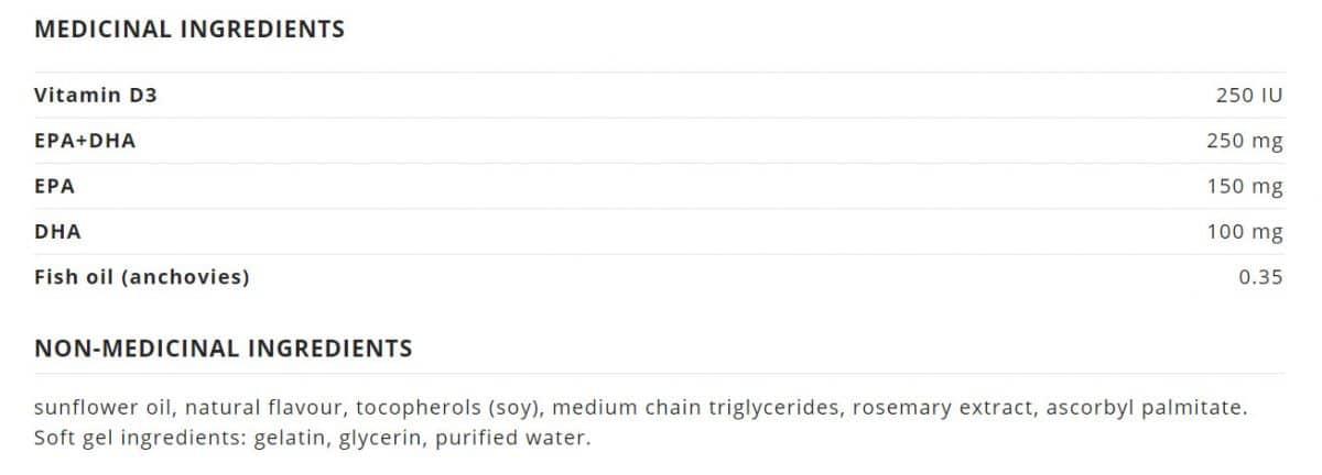NutraSea+D™ Omega-3 Mini Gels, Fresh Mint Canada Ingredients