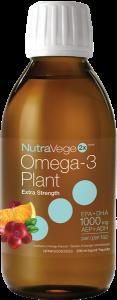 NutraVege™ Omega-3, Plant Based, Extra Strength, Cranberry Orange | 200 ml Liquid