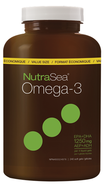 NutraSea® Omega-3 Liquid Gels, Lemon | 240 Softgels