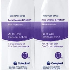 Coloplast 7710 Baza Cleanse and Protect lotion 4g packets Canada