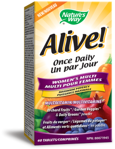 Nature's Way 31556 Alive Women's Once Daily 60 Tablets Canada
