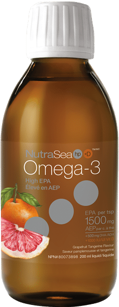 NutraSea® HP™+ D Omega-3, Grapefruit Tangerine | 200 ml liquid