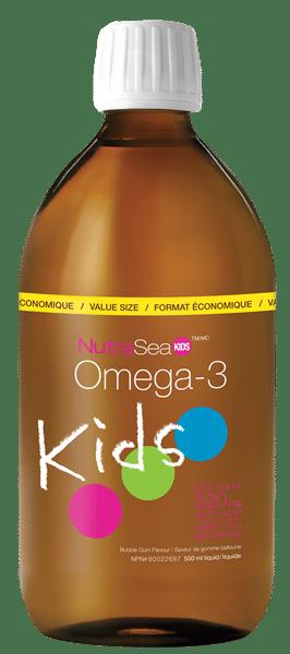 NutraSea® Kids™ Omega-3, Bubblegum | 500 ml liquid