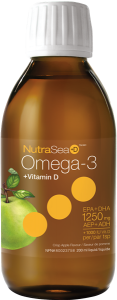 NutraSea+D™ Omega-3, Crisp Apple | 200 ml liquid