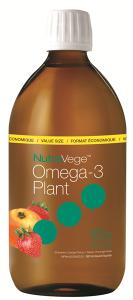 NutraVege™ Omega-3, Plant Based, Strawberry Orange | 500 ml liquid