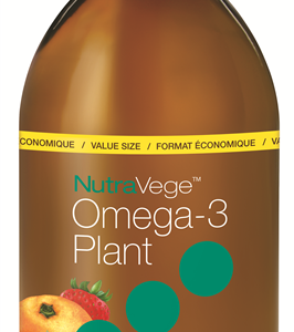NutraVege 11453 Omega-3 Plant Based Strawberry Orange 500 ml Canada