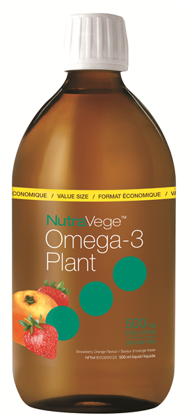 NutraVege™ Omega-3, Plant Based, Strawberry Orange | 500 ml liquid