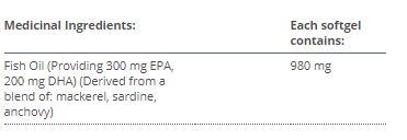 OmegaGenics® EPA-DHA 500 - Ingredients