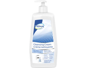 TENA Cleansing Cream Pump Bottle Unscented (1000ml)