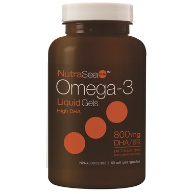 Ascenta | NutraSea DHA 2x Concentrated | Omega -3 (Fresh Mint) 60 softgels -11105