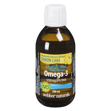 Crystal Clean Webber Omega-3 1250mg (200ml)