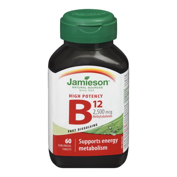 Jamieson High Potency B12 2500mcg