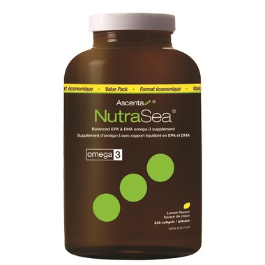 Ascenta | NutraSea | Omega -3 (Lemon) 240 softgels -11104