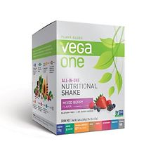 Vega One All-in-One Nutritional Shake Mixed Berry Box of 10 single packs (42g)