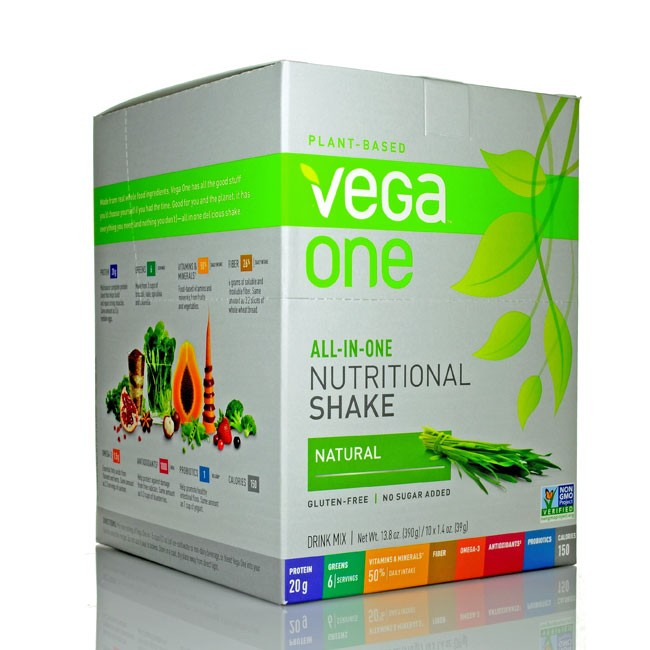 Vega One All-in-One Nutritional Shake Natural Box of 10 single packs (43.8g)