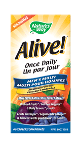 Nature's Way | Alive! Men's One a Day with L-Arginine 60 Tabs -31555