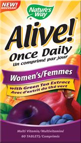 Nature's Way | Alive! Women's One a Day with Green Tea (60 Tablets) -31556