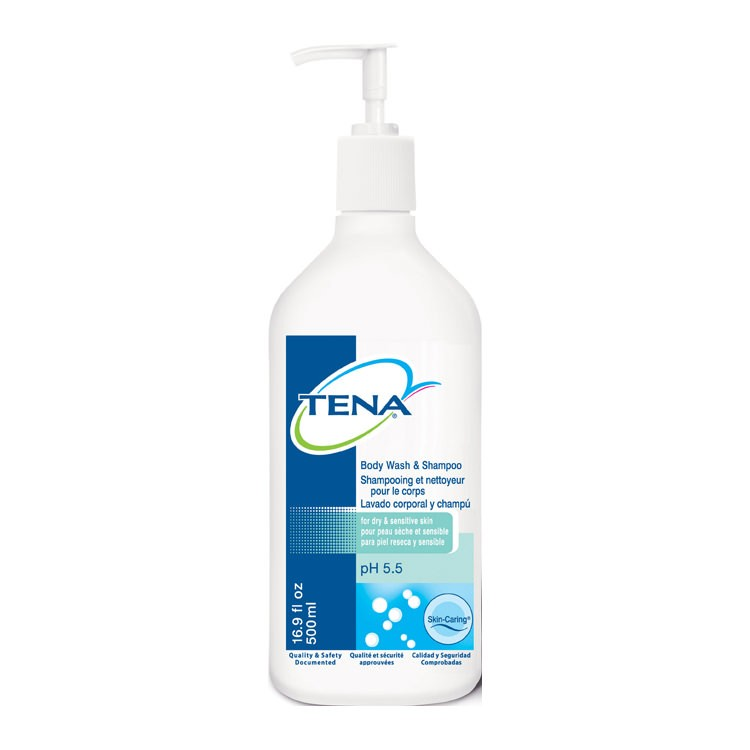 TENA Body Wash and Shampoo (500ml)