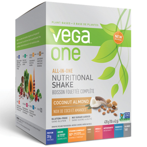 Vega One All-in-One Nutritional Shake Coconut/Almond Box of 10 single packs (42g)