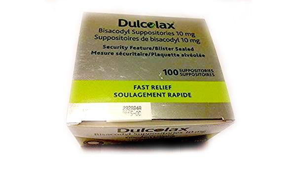 dulcolax bisacodyl suppositories - Canada - box of 100