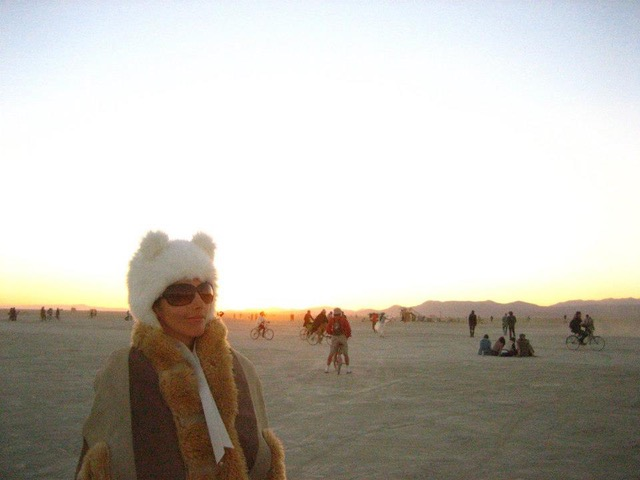 Julie Singer | Recovering from surgery at Burning Man