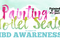 Painting Toilet Seats in Support of IBD Awareness - GI Society Event