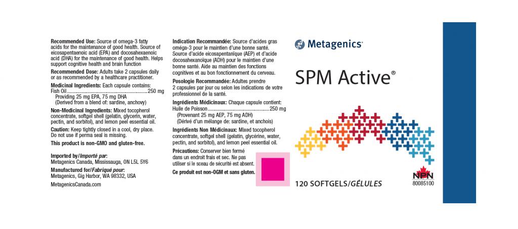Metagenics SPM Active - 120 Softgels - Canada