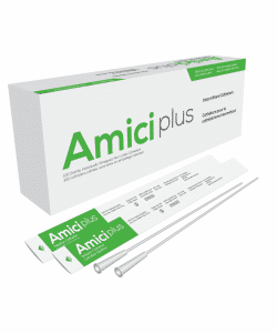 "Amici 5912 Plus - 16"" Male Intermittent Catheters, 12 French, Box of 100 Canada"
