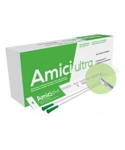 """Amici Ultra 7714 - 16"""" Tiemann Tip Intermittent Catheters, 14 French, Box 100 Canada"""