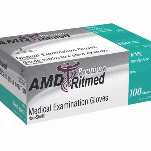 AMD-Ritmed Vinyl Non-Sterile Gloves Powder Free Box of 100 Canada