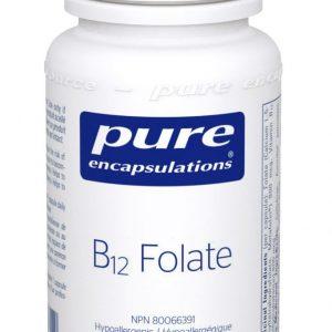 Pure Encapsulations B12 Folate 60 vegetable capsules Inner Good Canada
