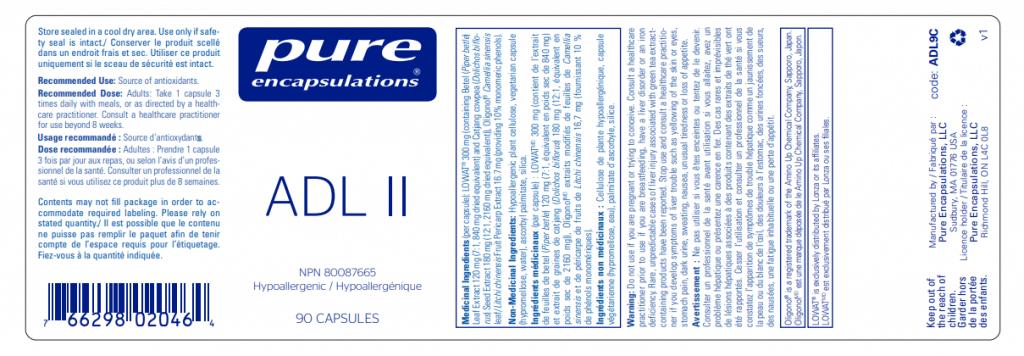 Pure Encapsulations ADL II - InnerGood.ca | Canada