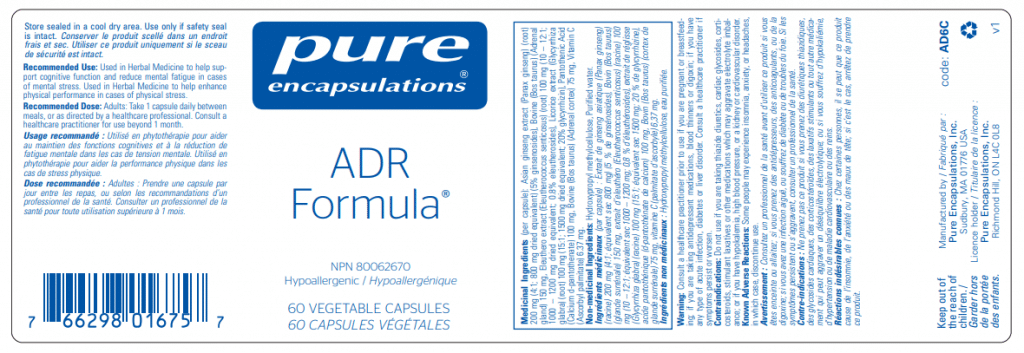 Pure Encapsulations ADR Formula   InnerGood.ca   Canada
