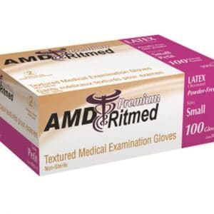 AMD 9992-D Latex Gloves, Powder Free Box of 100