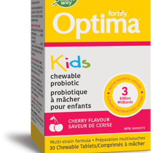 Nature's Way 31306 Fortify™ Optima™ Kids Probiotic, Cherry 30 Tablets Canada